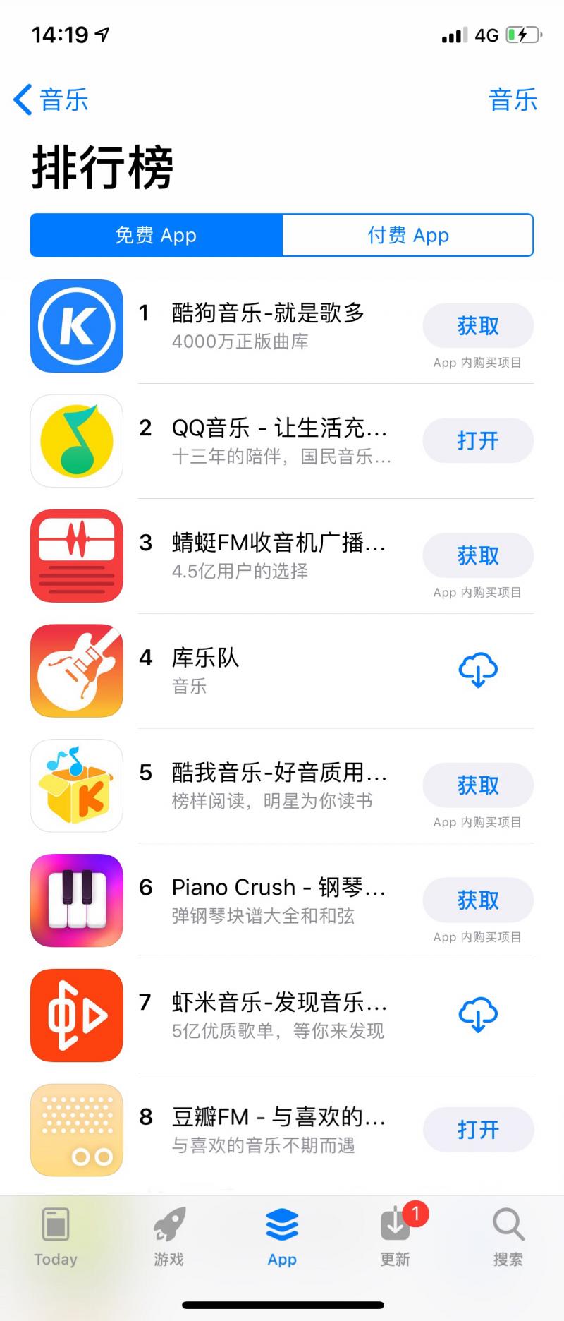豆瓣FM发布6.0.1版本 重回App Store音乐榜前十