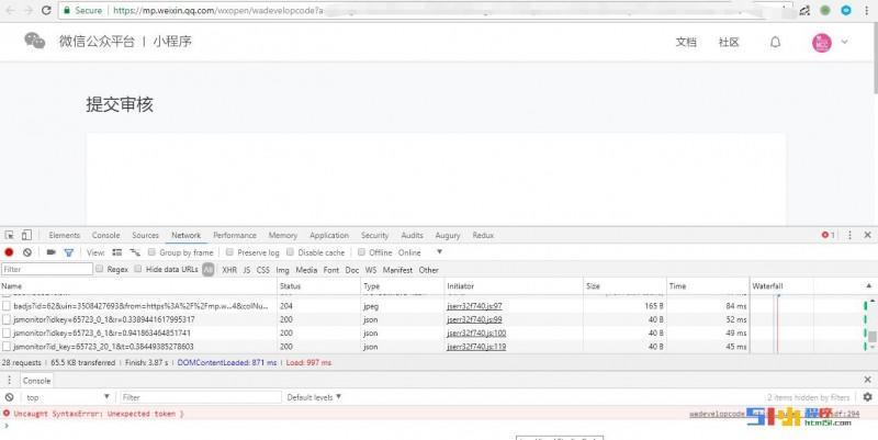 小程序丨【已解决】[bug] 提交审核界面无法显示